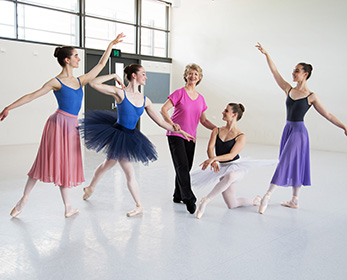 The four dancers will prepare for the Genée International Ballet competition with WAAPA Ballet Lecturer Diana de Vos OAM.